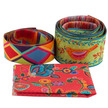 Vintage coin Pouch Ribbon Kit Sew4Home Red Bird on Green additional picture 2