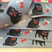 """7/8"""" Black pug on grey by Jessica Jones additional picture 2"""