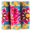 """Wide Dahlias on Turquoise 6.5"""" wide additional picture 2"""