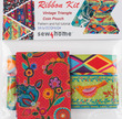 Vintage coin Pouch Ribbon Kit Sew4Home Red Bird on Green additional picture 1