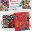 Vintage coin Pouch Ribbon Kit Sew4Home Flower additional picture 1