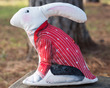 Red Coat -Alice White Rabbit Velvet Sewing Project Kit additional picture 1