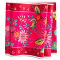 """Enchantee Pink Flowers on Pink 5"""" wide - Printed Velvet Border"""