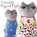 Sewing Project Kit-Baby Camille Day/night Cat Velvet