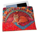 Sewing Project Kit-Ginger Cat-Tablet case- Velvet