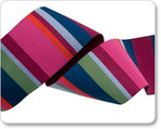 "1-1/2"" Wide Pink & Blue Roman Stripes - Kaffe Fassett"