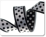 "3/4""Polka Dots - Black/White"