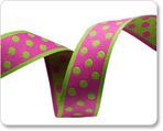 """3/4""""Polka Dots - Pink/Green"""