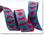 "5/8"" Blue & Red Night Life - Jane Sassaman"