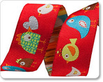 "7/8"" Red Happy Birds - Dena Designs"