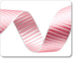 "5/8""-Pink Pastel Reversible Satin Stripes"