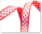 "1/2""Polka Dots - Red/White"