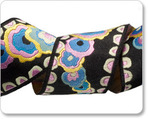 "1-1/2"" Pink/Blue/Black  Kite Tail   - Kaffe Fassett"