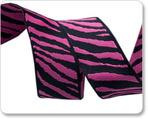 "7/8"" Pink & Black Zebra"