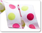 """7/8""""-Pink/Green Dots"""