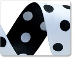 "1-1/2"" Polka Dots - Black & White"