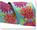 "1 1/2""  Chrysanthemums on Aqua - Philip Jacobs"