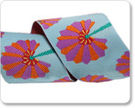 "1-1/2""   Aqua Palm Fan  - Kaffe Fassett"