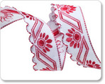 """5/8"""" Red Scallop Edge ribbon"""