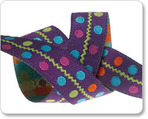 "5/8"" Multi Dots on Purple-Sue Spargo"