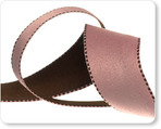 "1"" Reversible Satin ribbon- Pink & Brown"