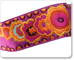 "1-1/2"" Plum & Orange Kite Tail - Kaffe Fassett"