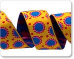 """7/8"""" Yellow & Blue Dotty Dots - Jane Sassaman"""