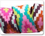 "7/8"" Pink Rust & Aqua Spirit Weave - Hapi by Amy Butler"