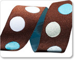 "7/8""-Brown/Aqua Dots"