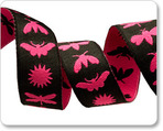 "5/8""  Black and Pink Night Life - Jane Sassaman"