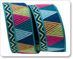 """7/8"""" Blue/Pink/Gold Belle Mosaic - Amy Butler"""