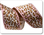 "7/8"" Pink/Brown Ombre Leopard - Anna Maria Horner"