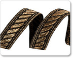 "5/8""-Black/Gold Rope Tape"