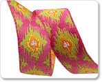 "5/8"" Ikat on Pink - Dena Designs"