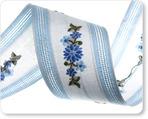 """1-1/4"""" Blue Floral Flower"""