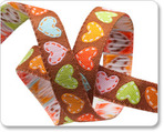 "3/8"" Brown Happi Hearts - Dena Designs"