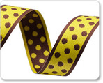 "3/4""Polka Dots - Pistachio/Brown"