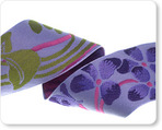 "1-1/2""-Purple Flower on Lavender"