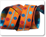 "5/8"" Multi Dots on Orange-Sue Spargo"