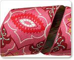 "2"" Pink on Burgundy Brocade - Amy Butler"