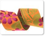 "1-1/2""-Fuchsia Flower On Orange"
