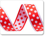 "3/4""Polka Dots - Red/White"