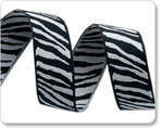 "5/8"" Black & White Zebra"