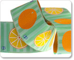 "1-1/2"" Oranges in Orange/Green - By Laura Foster Nicholson"