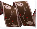 """7/8"""" Brown Leaf & Berry Vine by Nancy Zieman"""