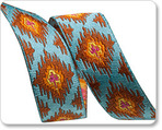 "5/8"" Ikat on Blue - Dena Designs"