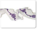"5/8"" Purple Scallop Edged Flower"