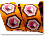 """7/8"""" Pink on Orange Hex Box - Tula Pink"""