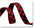 "3/8"" Red & Black Checkerboard - Luella Doss"