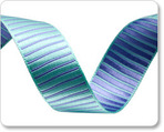 "5/8""-Turquoise/Lavender Reversible Satin Stripes"